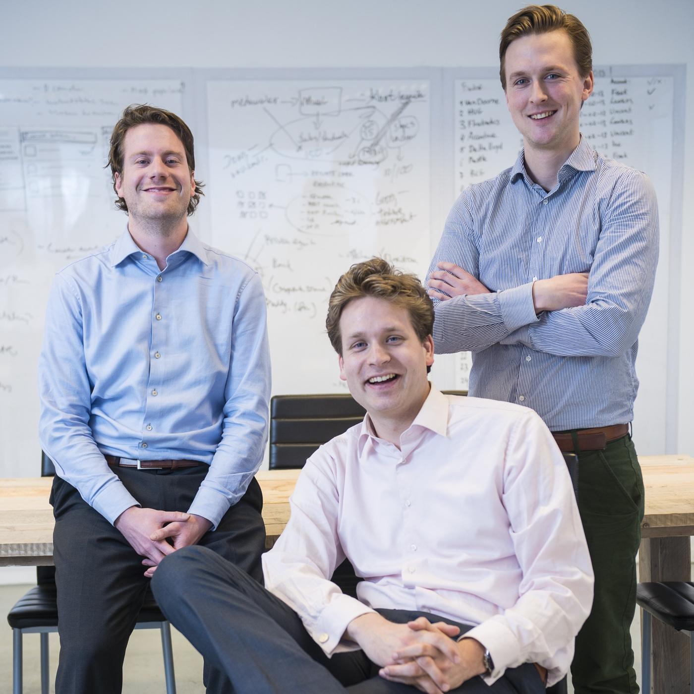 Magnet.me vlnr: Laurens van Nues, Vincent Karremans, Freek Schouten