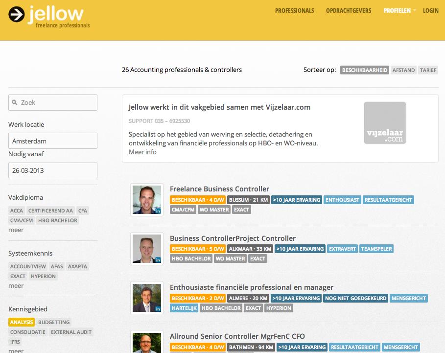 Jellow database voorbeeld