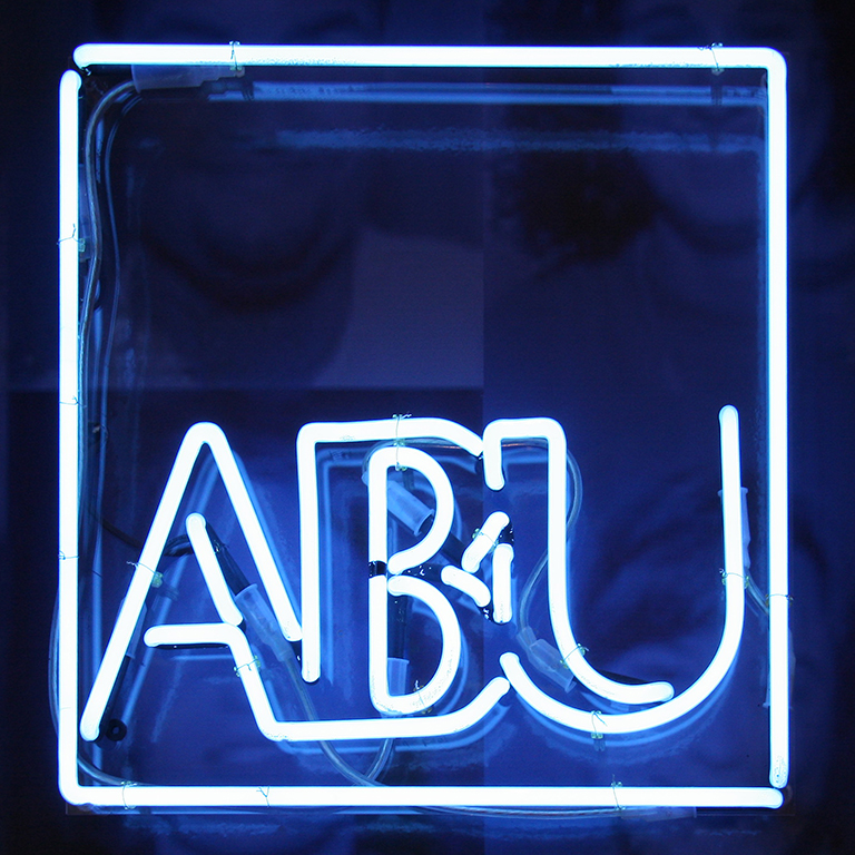ABU, neon letters