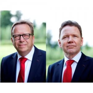 links: Jan Franken, rechts: Hans van de Ven, oprichters Please Payroll