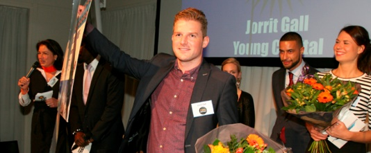Jorrit Gall verkozen tot Intercedent van het Jaar 2014