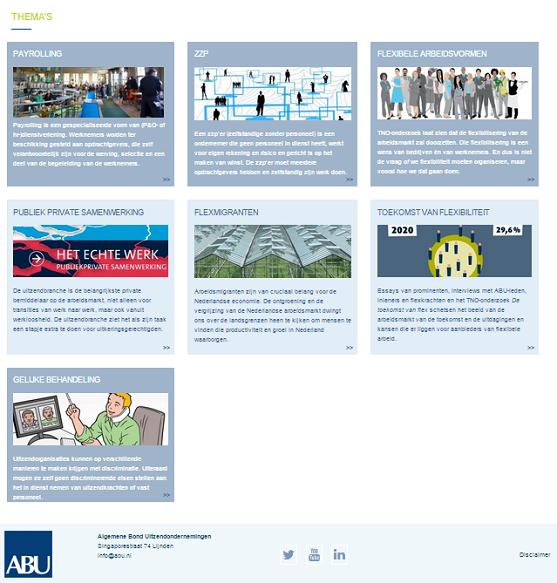 ABU, nieuwe website
