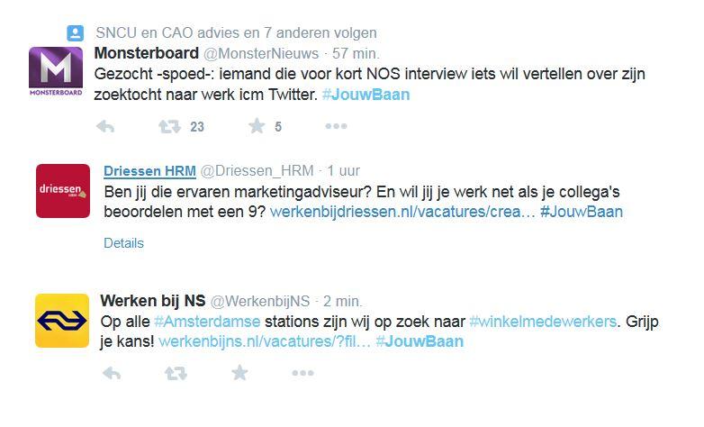 Tweets #JouwBaan