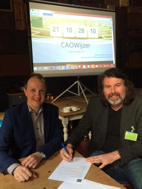 Contract CAOWijzer, ondertekening