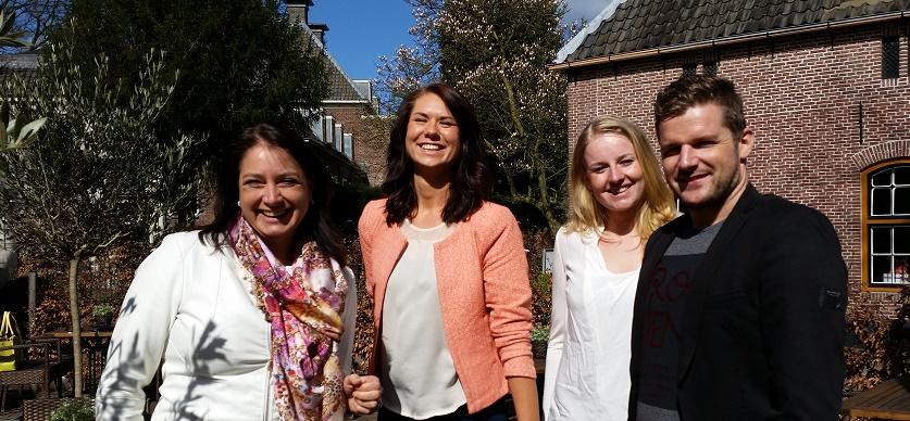 vlnr: Ellen van Hierden (ARTRA), Merel Aaldering (In Person), Elsbeth Scholtens (Tempo-Team), Jorrit-Gall (YoungCapital)
