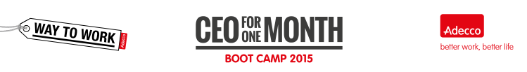 Adecco CEO 1 Month, boot camp 2015