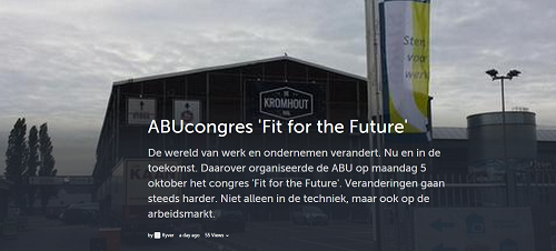 Fit for the Future, social verslag ABU-congres, door Hylke van der Wal, Kyver