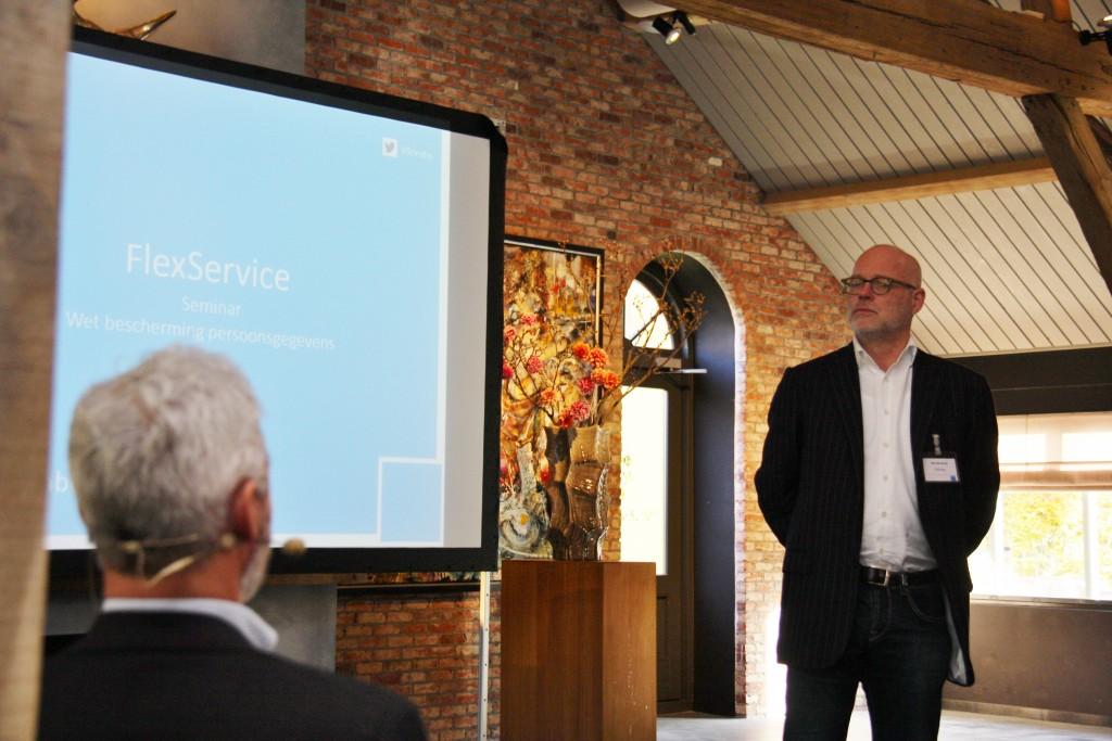 Han R. de Groot, gastheer Wbp seminar, georganiseerd door FlexService