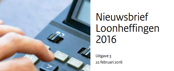 Loonheffingen 2016 3e uitgave