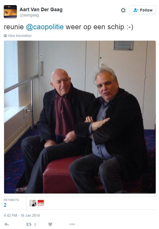 Aart van der Gaag en Han Westerhof bij reünie SNCU
