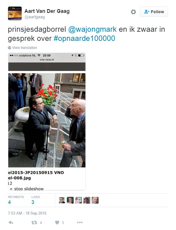 Mark de Groot in gesprek met Aart van der Gaag over 100000 banenplan