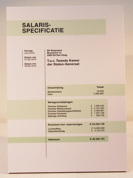 Salarisspecificatie - petitie payroll Tweede Kamer cie SZW