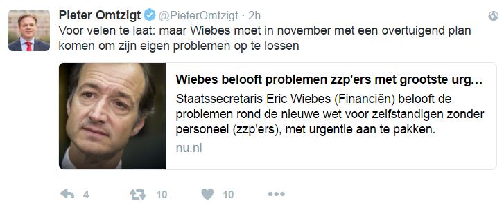 Pieter Omtzigt - tweet - urgentie aanpak DBA problemen