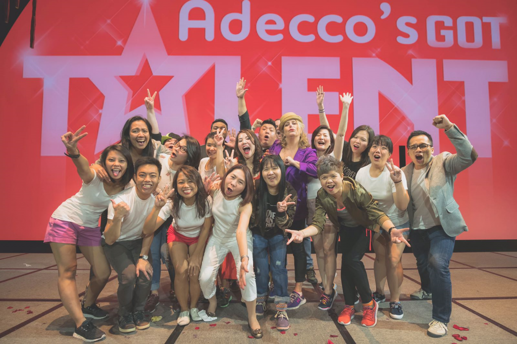 Adecco Singapore Organising committee Kick Off after performing at Adecco got talent