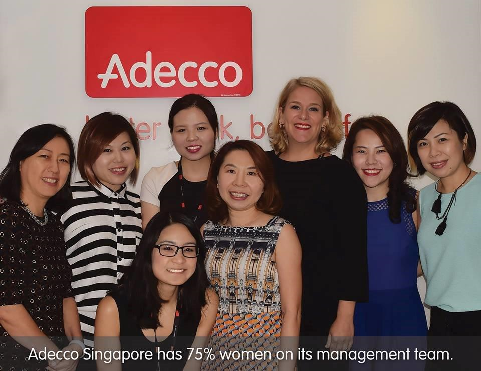 International Women Day - Adecco Singapore has 75% females in the management team