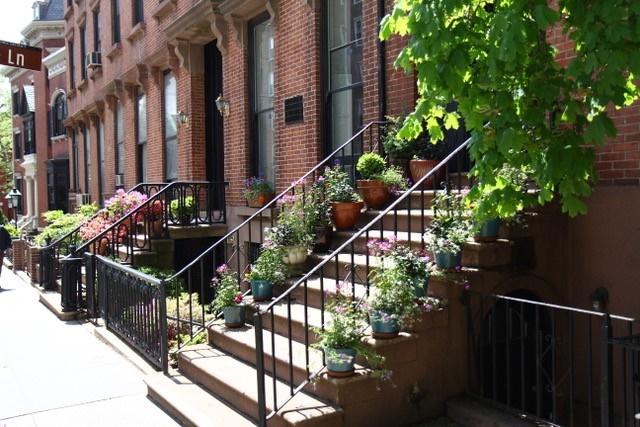 New York, Brownstone woonwijk