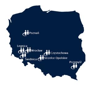 Pollux, vestigingen in Polen
