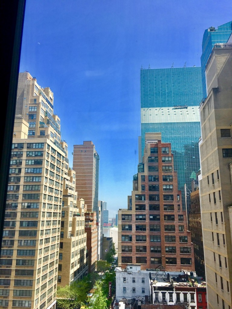 Uitzicht vanuit kantoor YER, New York