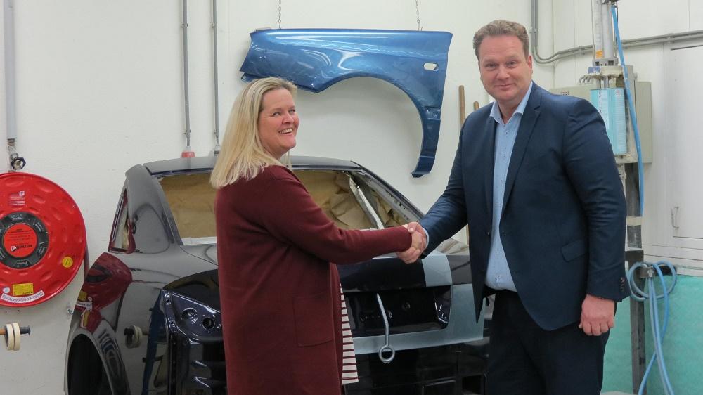 Yolande van Doornspeek en Patrick van der Ploeg, samenwerking opleiding schadeherstellers