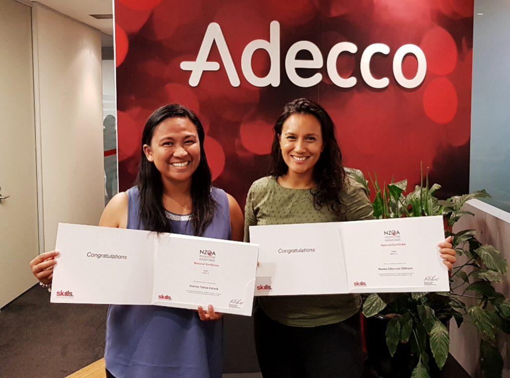 Adecco Auckland Nieuw-Zeeland, foto rechts: Wytske Zijlmans