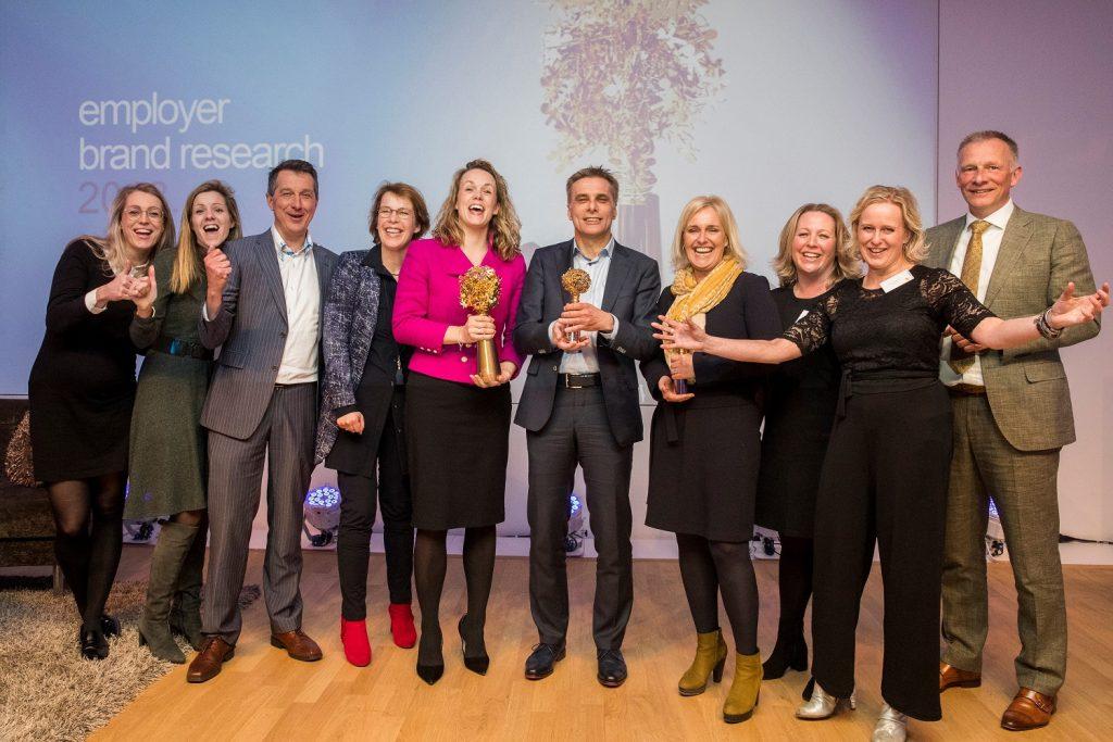 Schiphol Group, Erasmus MC Rotterdam en Philips, trotse winnaars van de Randstad Awards 2018