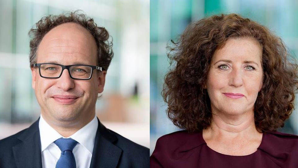Minister Wouter Koolmees (SZW) en minister Ingrid van Engelshoven (OCW)