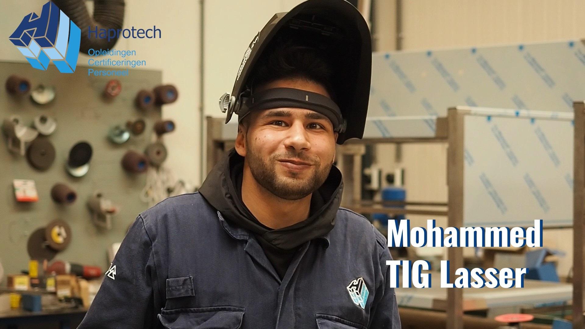 Mohammed TIG Lasser, opgeleid door Haprotech