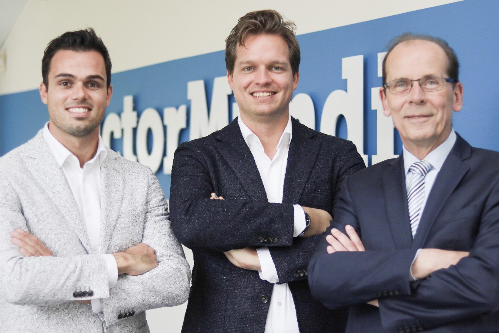 ZZP Nederland neemt Victor Mundi over, foto vlnr: Robbie Sakkers, Jeroen Sakkers en Frank Alfrink