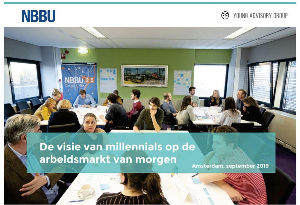 Rapport: De visie van millennials op de arbeidsmarkt van morgen, bron YAG en NBBU
