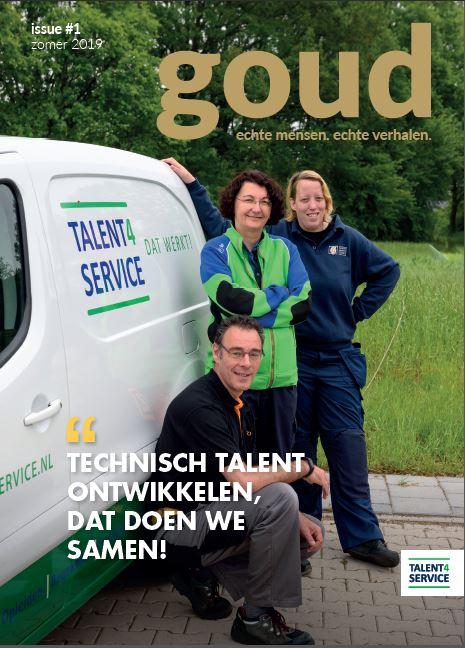 voorkant glossy Goud, zij-instroom techniek, bron Talent4Service