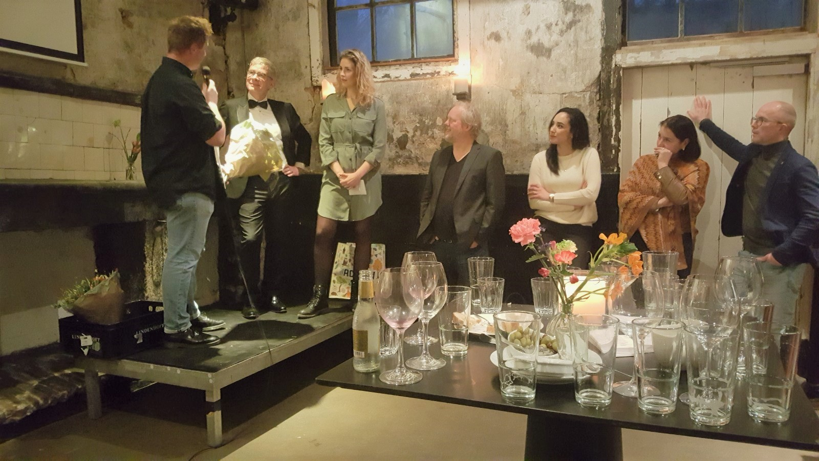Jelmer Zuidema, Bas Westland, Monique de Jong tijdens MIR2019 Award Event