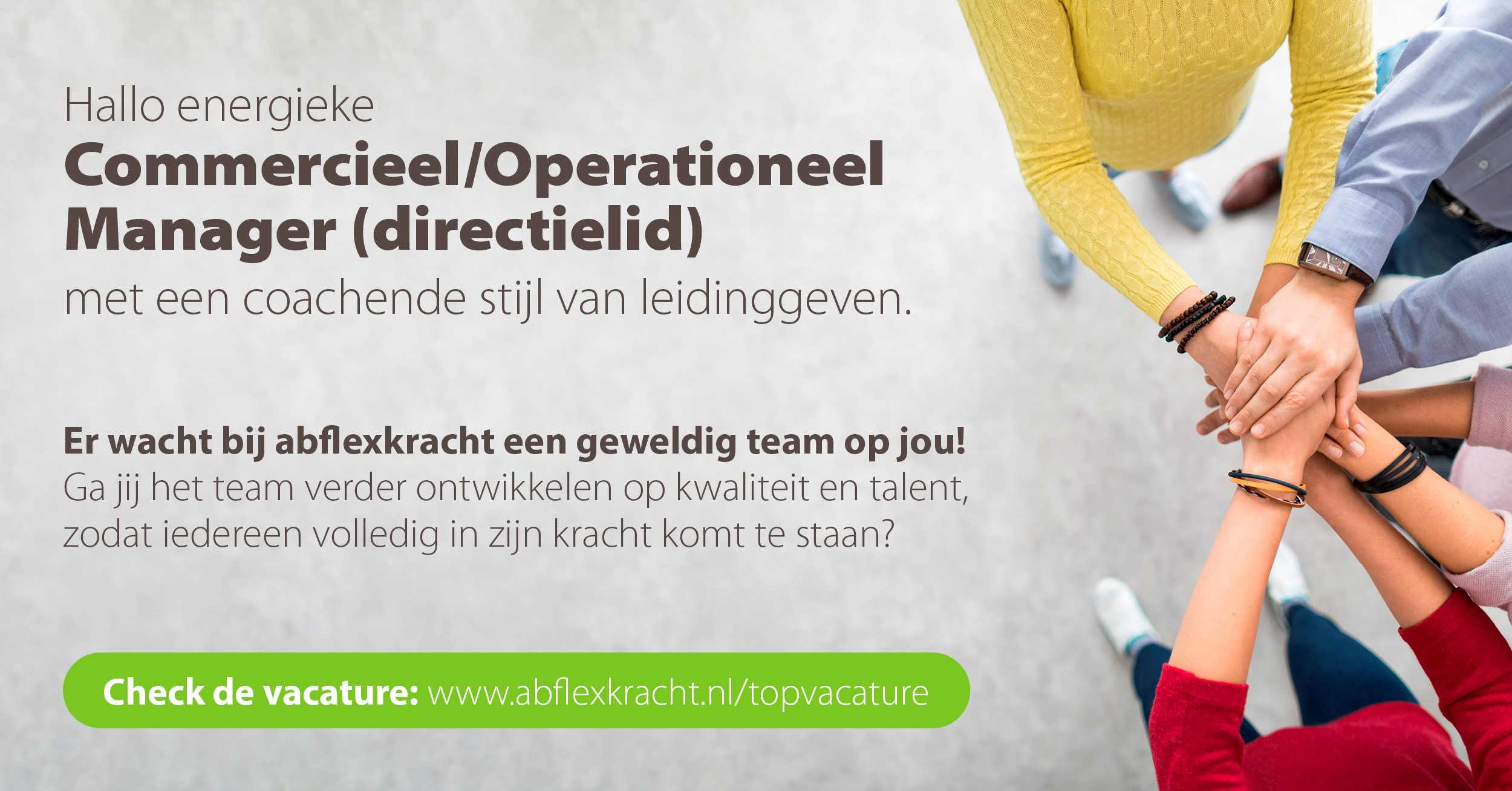 Vacature abflexkracht - Commercieel/Operationeel Manager