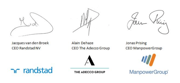 CEO's Randstad, The Adecco Group, ManpowerGroup