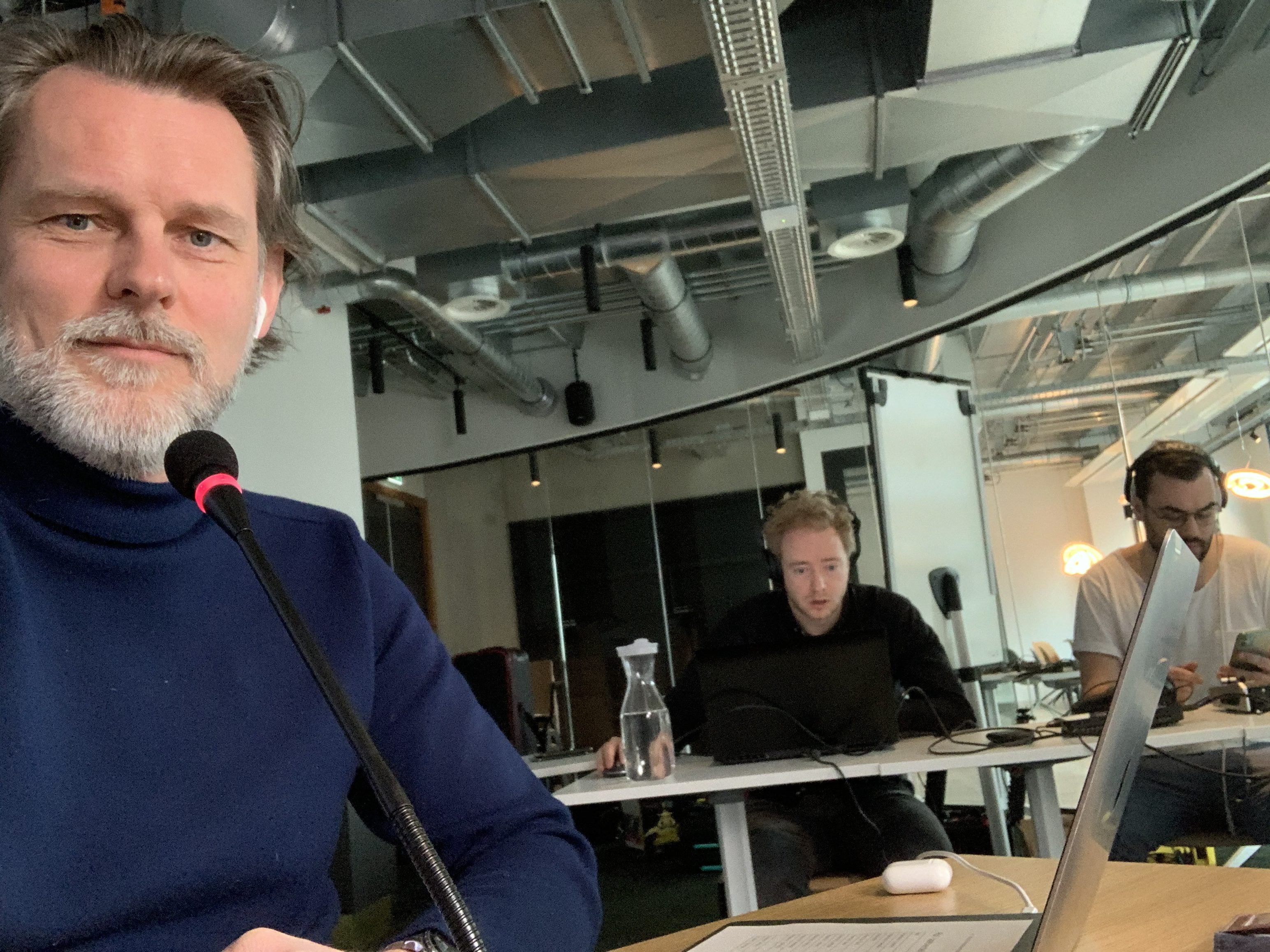 Rick Uringa tijdens het SEM-webinar, 3 april 202, behind the scenes
