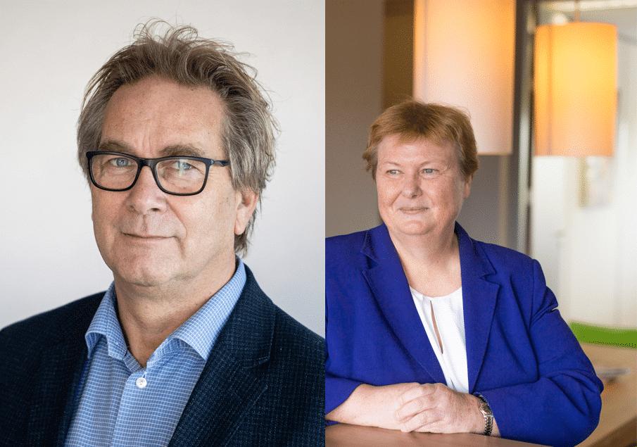 Marco Bastian, directeur NBBU en Brigitte van der Burg, voorzitter NBBU
