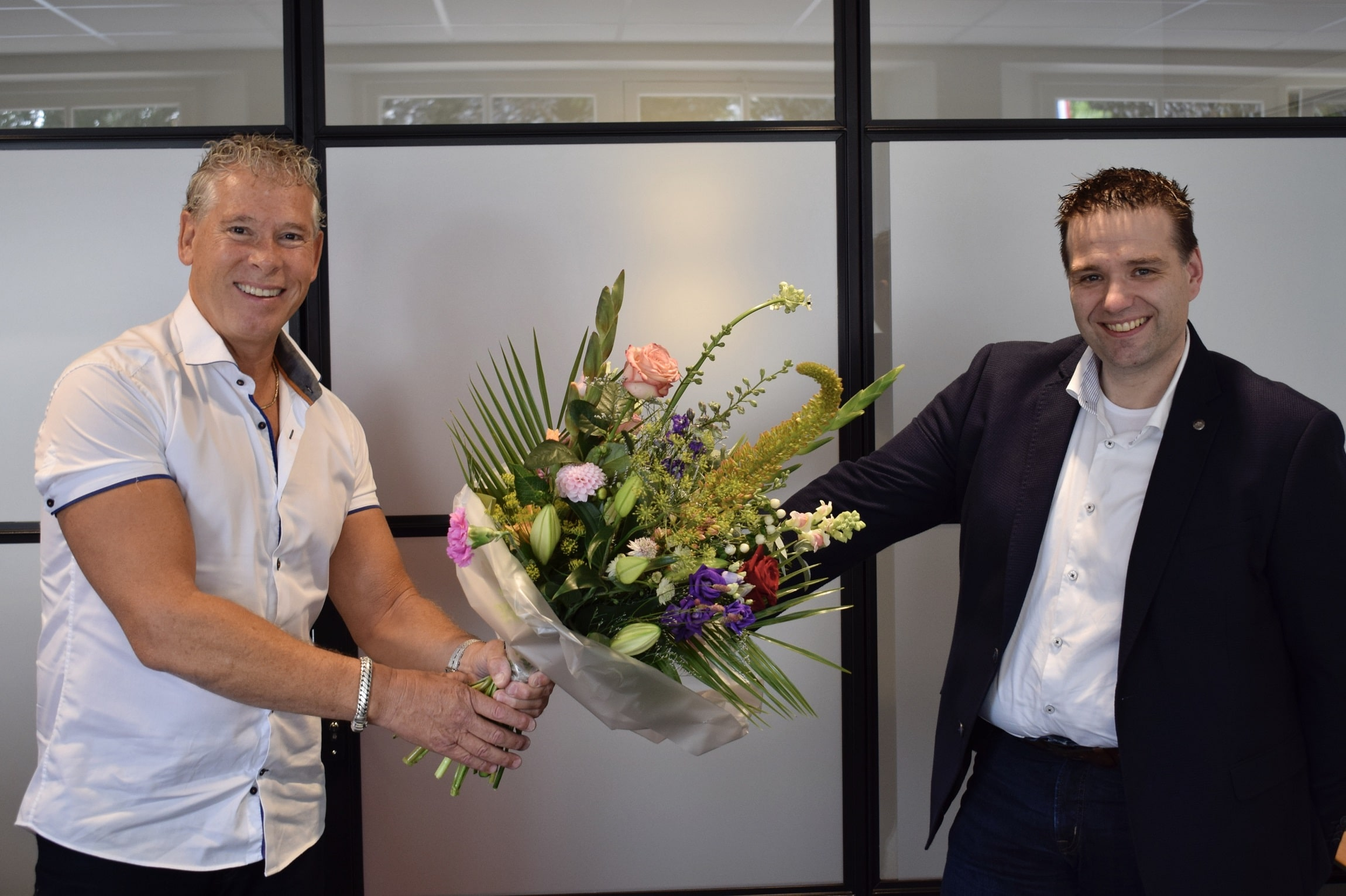Eduard Craanen, eigenaar FlexGroup (links) en Jan van den Broek, eigenaar Workstead (rechts)