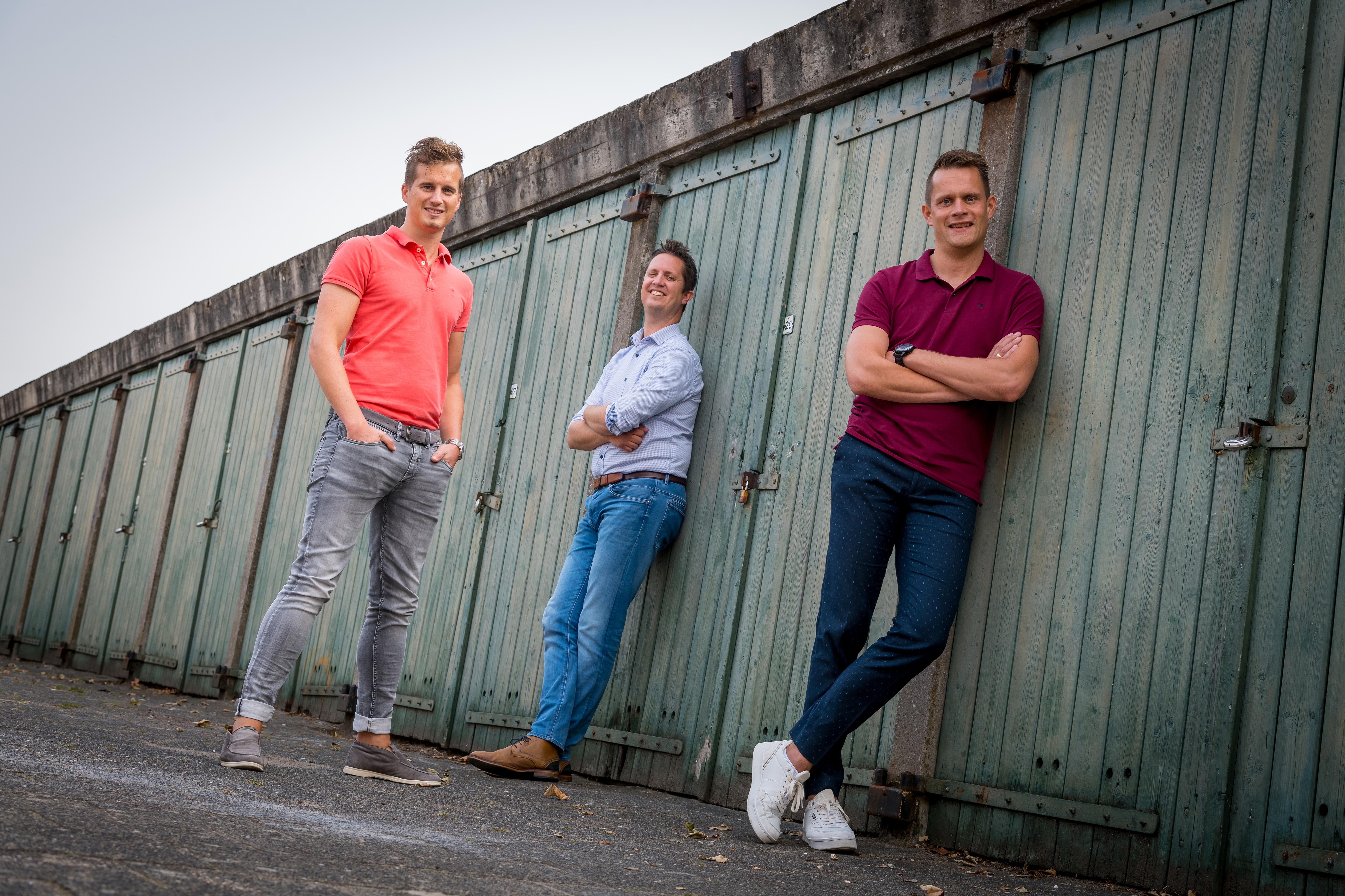 Brys, van links naar rechts: Walter Leenheer, Ruben van Mourik en Mathijs Vreeken