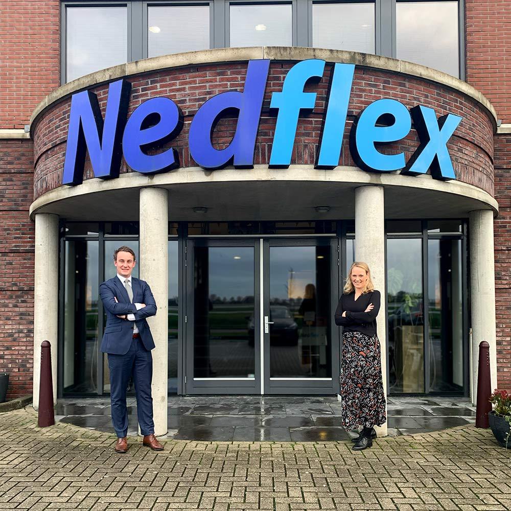 Nedflex krijgt nieuwe directie: links CEO Nick Bos, rechts CRO Martine de Wit
